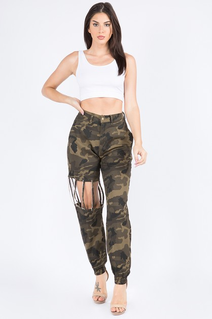 HIGH WAIST JOGGERS WITH RHINESTONES - orangeshine.com
