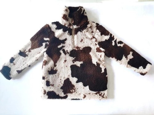 Cow print sherpa youth sizes  - orangeshine.com