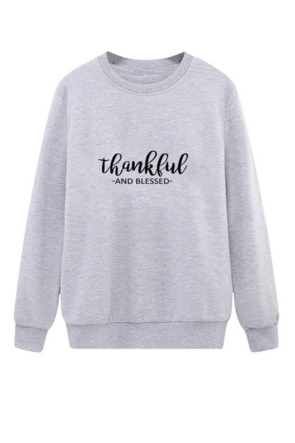 THANKFUL AND BLESSED SWEATER - orangeshine.com