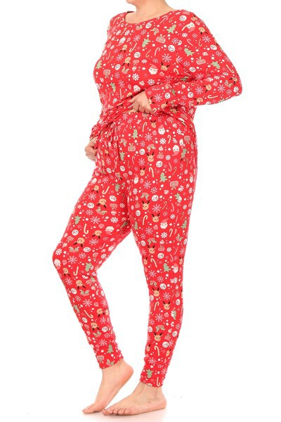 Plus Size Christmas Sets Pajamas  - orangeshine.com