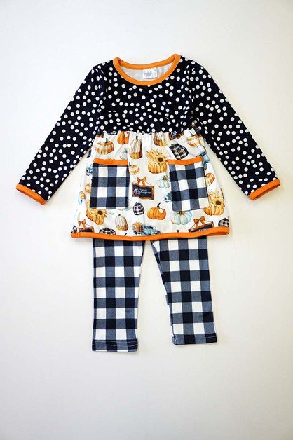 Black plaid pumpkin set - orangeshine.com