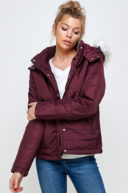 HOODED PUFFER JACKET - orangeshine.com