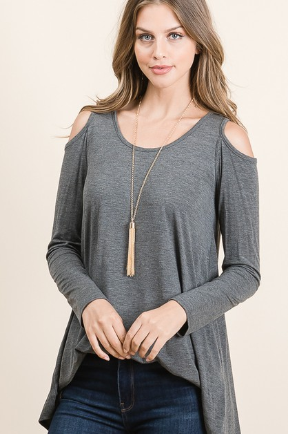 COLD SHOULDER TUNIC  - orangeshine.com