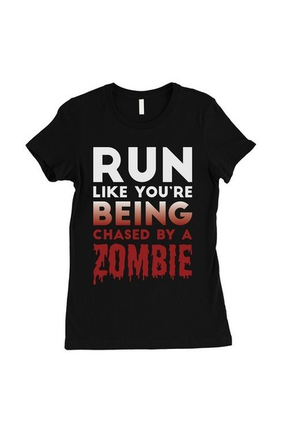 Chased By Zombie T-Shirt - orangeshine.com