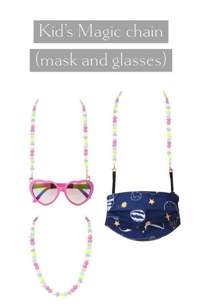 KIDS MASK AND GLASSES CHAIN - orangeshine.com