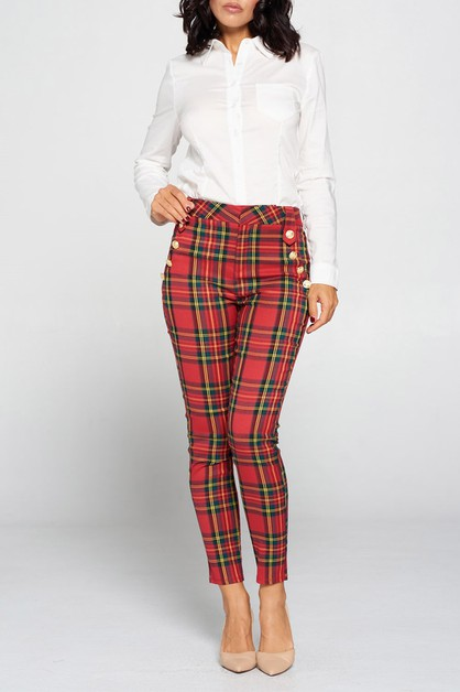 EMBELLISHED BUTTON DOWN PANTS - orangeshine.com