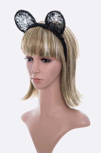 Lace Ears Iconic Headband - orangeshine.com