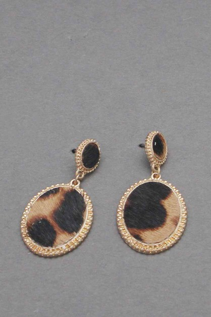 LEOPARD DANGLE EARRING  - orangeshine.com