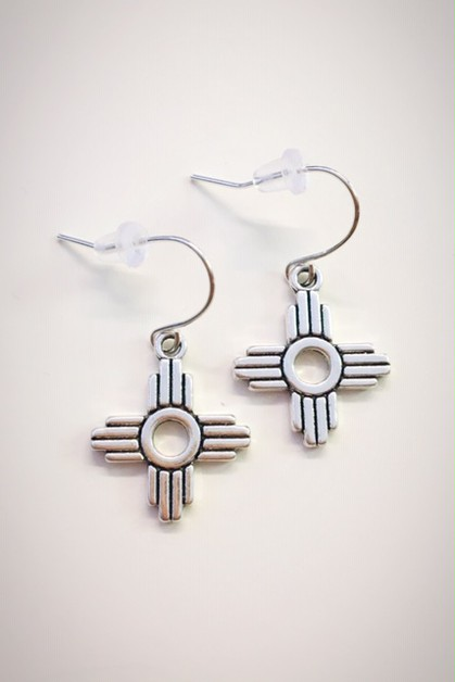 Zia sun symbol earrings - orangeshine.com