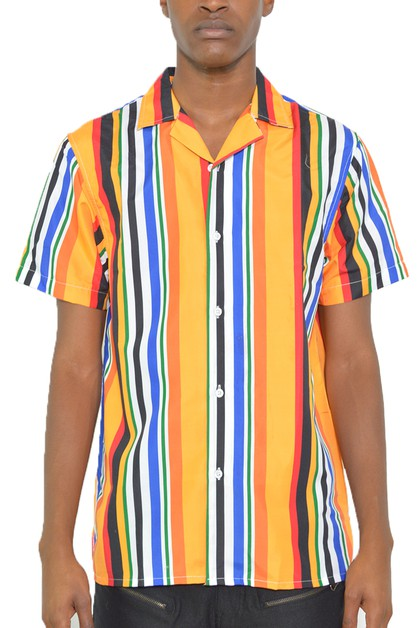 MENS SHORT SLEEVE BUTTON DOWN SHIRT - orangeshine.com
