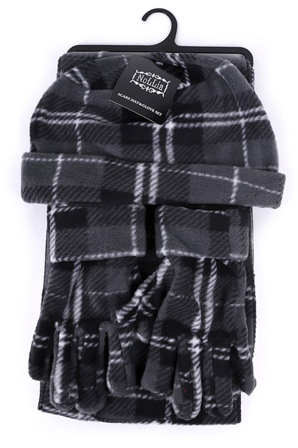 Womens Fleece Charcoal Plaid Winter - orangeshine.com