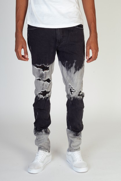 OMBRE-BLEACHED JEANS - orangeshine.com