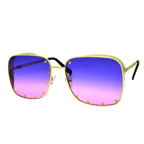 Fashion Metal Square Stud Sunglasses - orangeshine.com