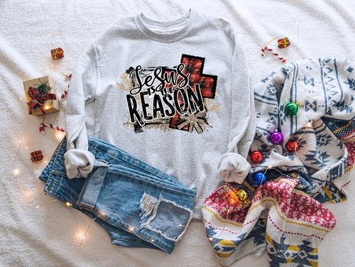 JESUS IS THE REASON   -SWEATSHIRT  - orangeshine.com