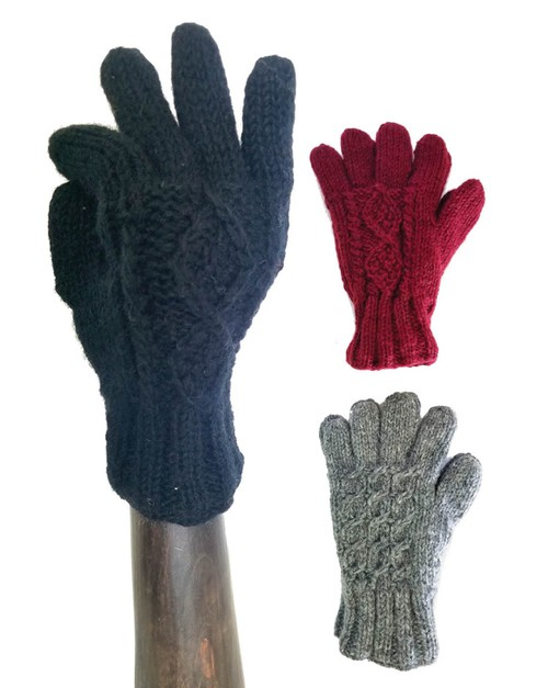 Wool Gloves Solid Color Hand Warmers - orangeshine.com
