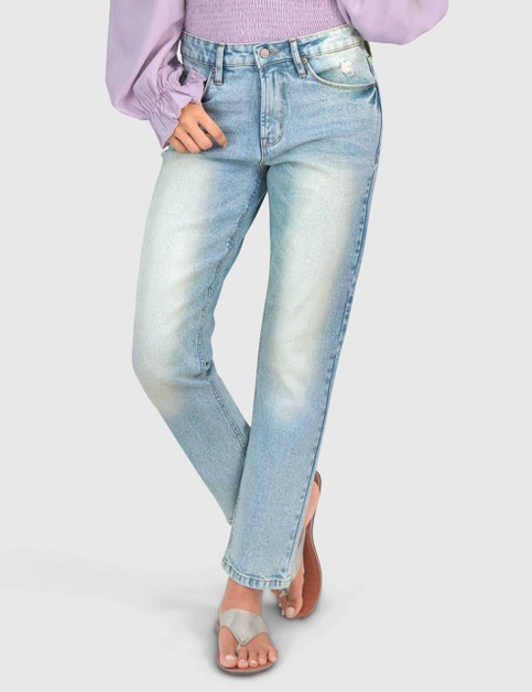 WOMENS HIGH-WAISTED LIGHT BLUE DENIM - orangeshine.com