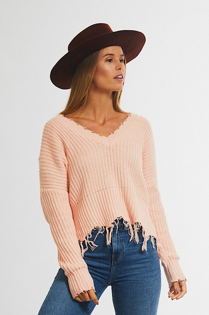 Long Batwing Sleeve Sweater  - orangeshine.com