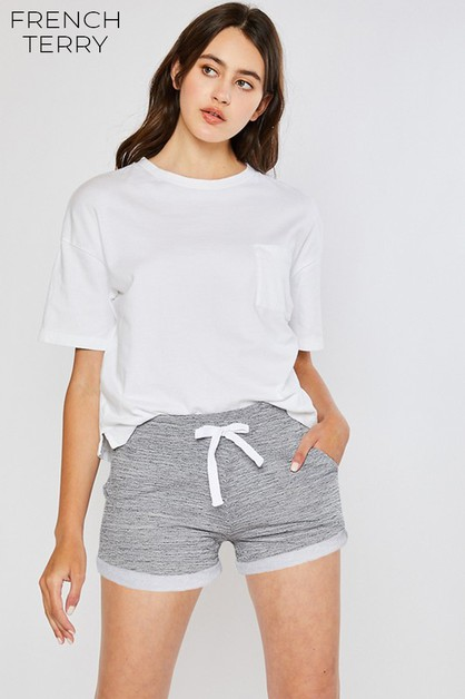 CLASSIC TERRY SHORTS WITH DRAWSTRING - orangeshine.com