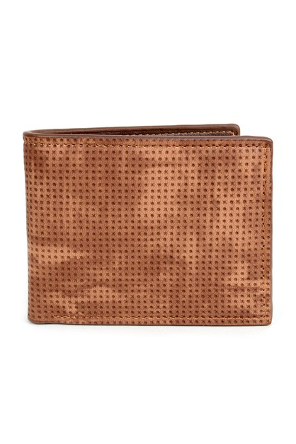 Men Bi-Fold Brown Leather Wallet - orangeshine.com