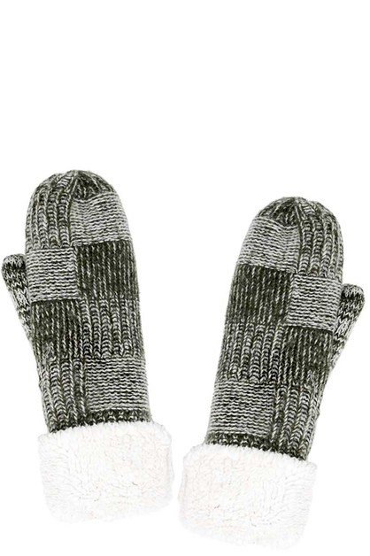 FASHION CHENILLE WARM COZY MITTEN - orangeshine.com