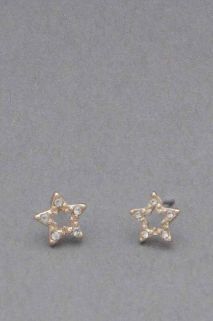 STAR POST EARRING   - orangeshine.com