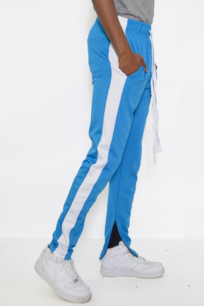 SLIM SINGLE STRIPE TRACK PANTS - orangeshine.com
