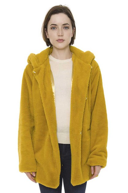 PLAIN COLOR SWEATER WITH HOODED - orangeshine.com