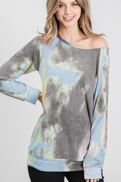 MULTI COLOR TIE DYE PRINT TOP - orangeshine.com