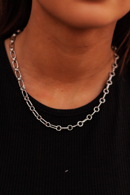Rounded Chain Link Necklace - orangeshine.com