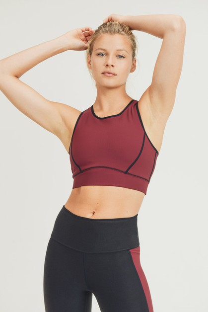 Reversible Colorblock Sports Bra - orangeshine.com