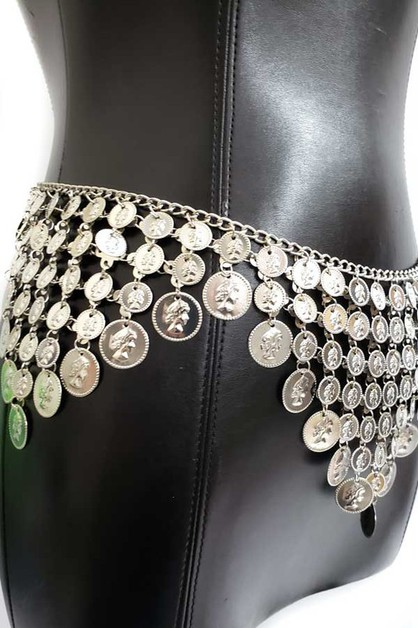 Belly dance coin belt - orangeshine.com