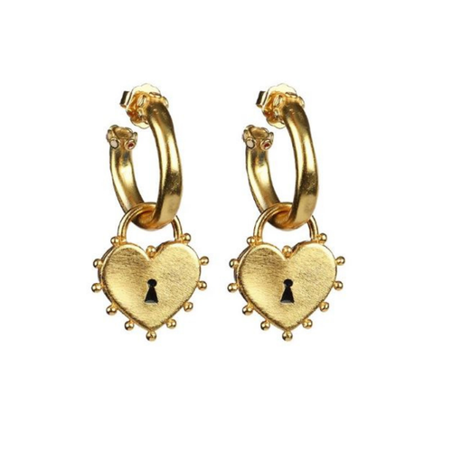 Locked Heart Earrings - orangeshine.com