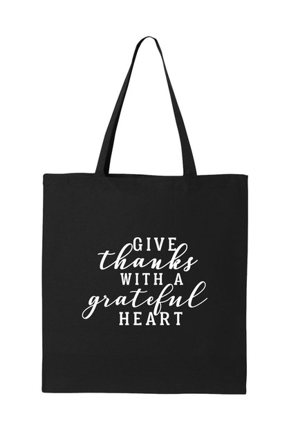 GIVE THANKS TOTE BAG - orangeshine.com