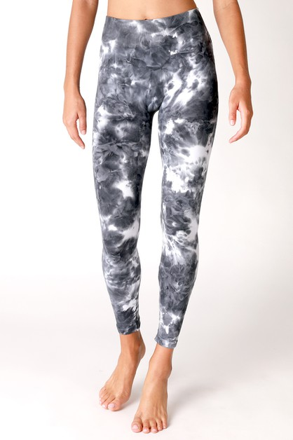 Tie Dye Highwaist Leggings - orangeshine.com