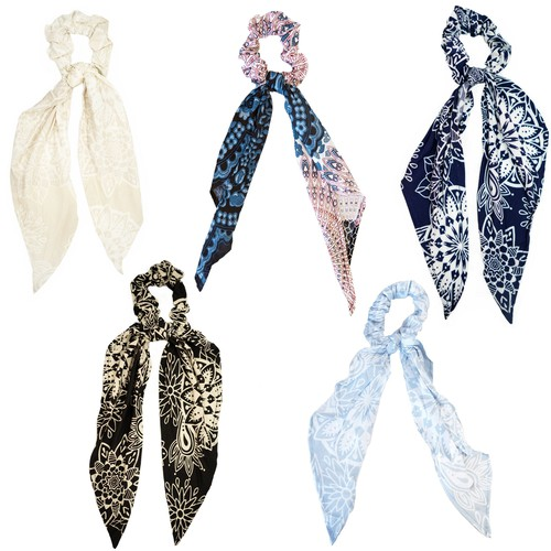 Scarf Scrunchies- 10 pack assorted - orangeshine.com