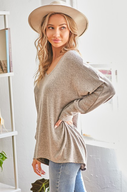 Oversized Knit Top - orangeshine.com