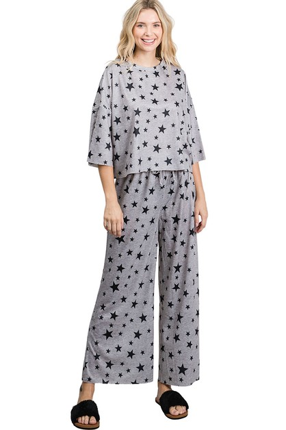 ColorAlien Star Print LoungeWear Set - orangeshine.com