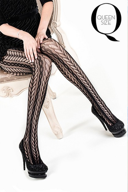 Braided Swirls Fishnet Tights - orangeshine.com