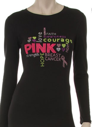 PINK, LOVE, HOPE, FIGHT, COURAGE - orangeshine.com