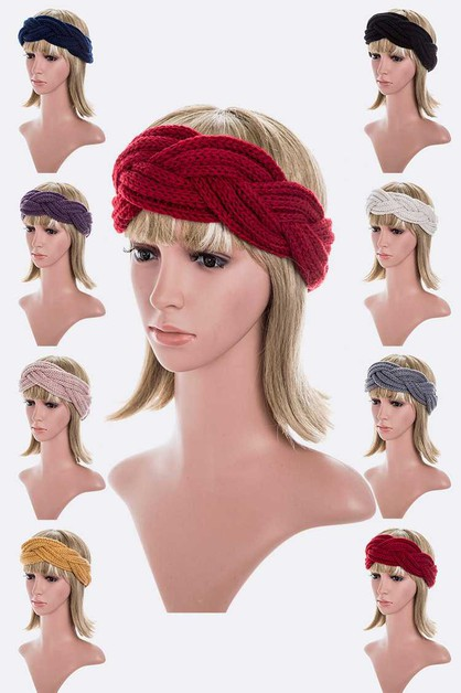 Braided Iconic Winter Headband Set - orangeshine.com
