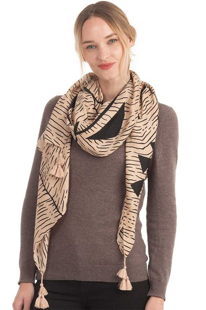 ABSTRACT ARTISTIC PATTERN SCARF - orangeshine.com