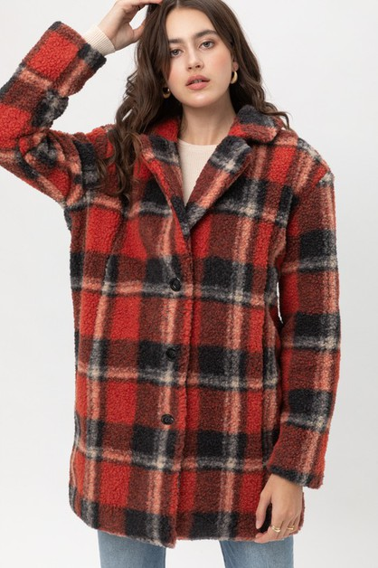 Plaid Coat  - orangeshine.com