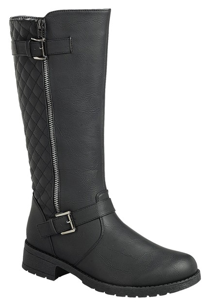 Pointed toe knee high boots. - orangeshine.com