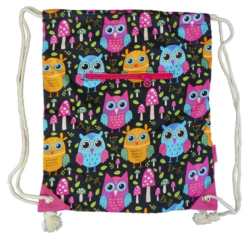 Owl Drawstring Backpack Cinch - orangeshine.com
