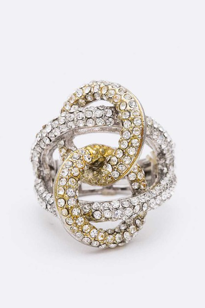 Interlock Crystal Stretch Ring - orangeshine.com