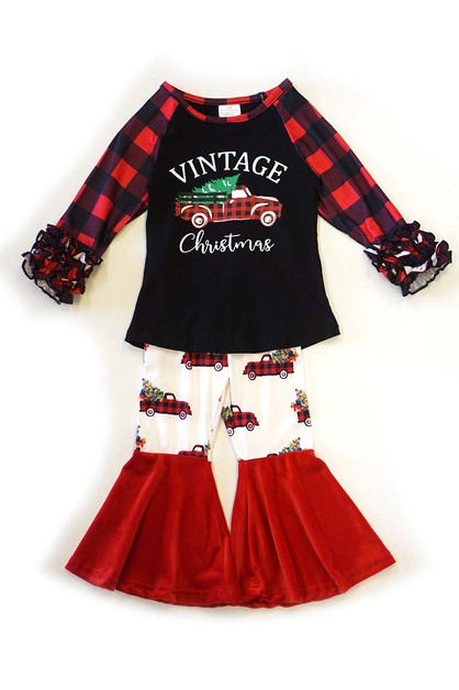 Vintage christmas bell pants set - orangeshine.com
