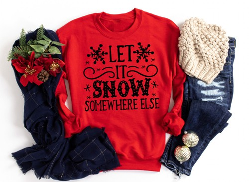 SNOW SOMEWHERE ELSE-SWEATSHIRT  - orangeshine.com