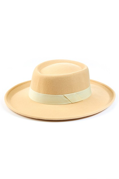 Ribbon Fashion Pork Pie Hat - orangeshine.com