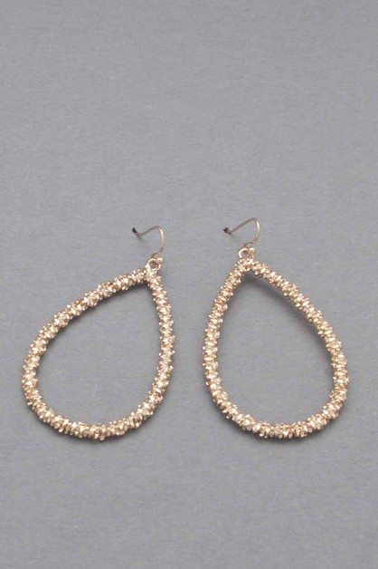 METAL TEAR DROP DANGLE EARRING - orangeshine.com