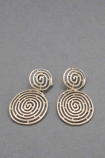 METAL SWIRL DANGLE EARRING - orangeshine.com